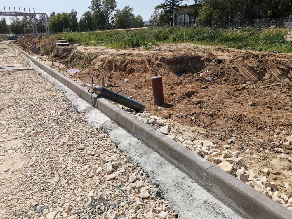 Установка бордюров на бетон